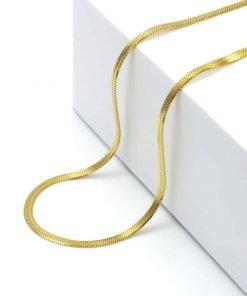 Χρυσό κολιέ snake