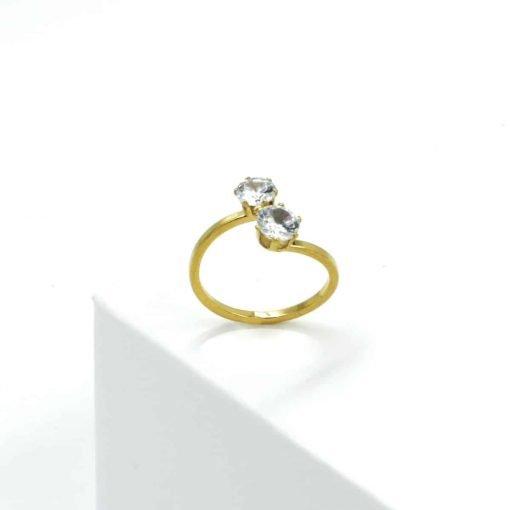 Χρυσό δαχτυλίδι με ζιρκόν