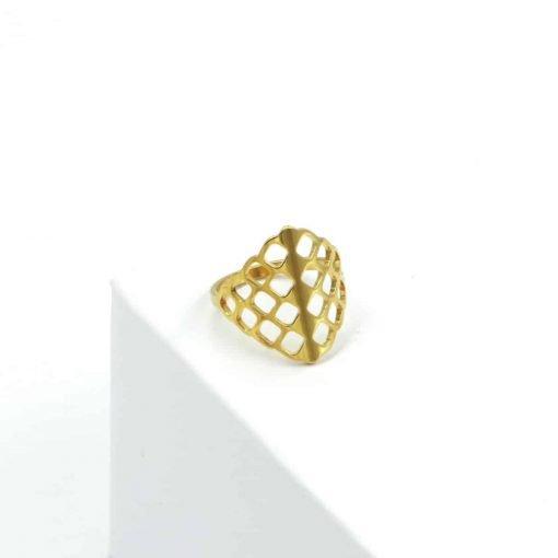 Χρυσό δαχτυλίδι τρυπητό