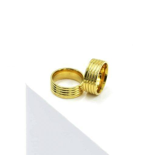 Χρυσά κρικάκια πλατιά