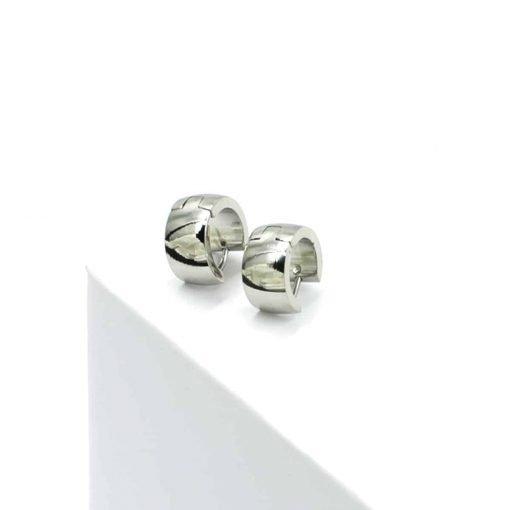 Ασημί ear cuffs σκουλαρίκια χοντρά